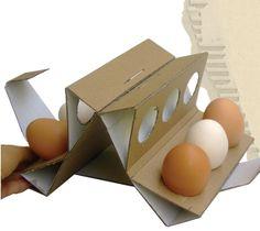 egg pack by ayse simsekci, via Behance