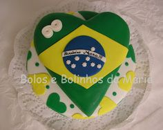 Bolo copa Brasil Chocolates, Sugar, Cookies, Desserts, Food, Brazil Cup, Theme Cakes, World Cup, Decorating Cakes