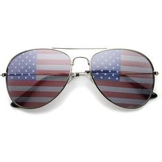 f720be56924 grinderPUNCH American Flag Aviator Sunglasses Glasses ( 6.99) ❤ liked on  Polyvore Mirrored Aviators