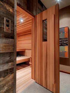 rustic home sauna/spa Basement Sauna, Basement Remodeling, Basement Ideas, Basement Bathroom, Sauna Steam Room, Sauna Room, The Farm, Saunas, Sauna Benefits