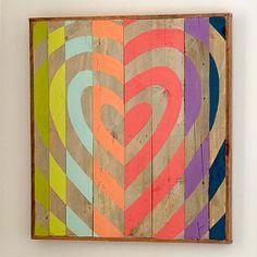 Heart Target Wood Art #pbteen