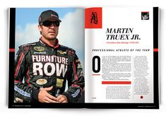 After racing for the NASCAR Sprint Cup, Martin Truex Jr. of Denver-based Furniture Row Racing is Mile High Sports 2015 Pro Athlete of the Year.