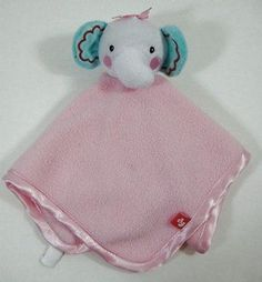 Pink ELEPHANT Baby Lovey & SECURITY Rainforest Blanket Fisher Price B413