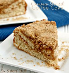 Cinnamon Streusel Coffee Cake - It is so easy to make! Sixsistersstuff.com