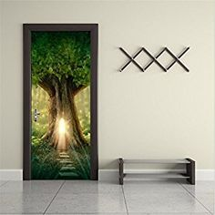 Amazon.com: Wall Murals Door Murals Forest Wall Mural Door Decals Door Wall Sticker Forest Mural Door Wall Stickers Wallpaper Mural DIY Home Decor Poster Decoration (10#Sunlight tree): Home & Kitchen