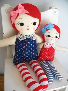 Red-Haired Classic Rag Doll Sweet handmade by PalookaHandmade