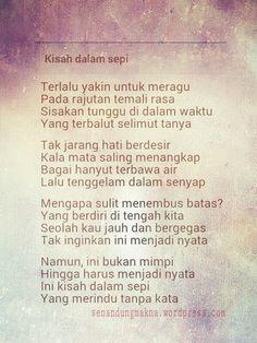 Kisah dalam sepi #puisi #Indonesia