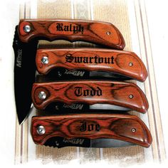 SET of 9 -  Engraved Pocket Knife , Personalized gift , Best Man gift , Hunting Knife , Groomsman knife Wedding Gift Knife