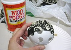 A Diamond in the Stuff: DIY Dollar Store Decorative Balls
