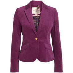 Jakku ($54) ❤ liked on Polyvore featuring outerwear, jackets, blazers, blazer, coats, purple blazer jacket, blazer jacket, purple blazer and purple jacket