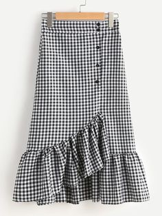 SheIn offers Gingham Layered Frill Hem Skirt & more to fit your fashionable needs. SheIn offers Gingham Layered Frill Hem Skirt & more to fit your fashionable needs. Boho Outfits, Skirt Outfits, Outfits For Teens, Casual Outfits, Gingham Skirt, Plaid Skirts, Ruffle Skirt, Maxi Skirts, Long Skirts