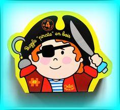TWÓJ POMYSŁ NA PREZENT-  PUZZLE DREWNIANE PIRAT Każda chłopiec kocha piratów a puzzle z piratem to wspaniałe uzupełnienie lub początek pirackiej kolekcji. Przy okazji świetna zabawka edukacyjna rozwijająca motorykę i zmysł obserwacji.