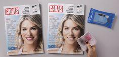 Anúncio permite remover maquiagem de modelo em capa de revista