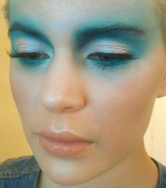Behind the scenes makeup from one of the makeup looks for the shoot. Inspired by water. ChaosMakeupArtist