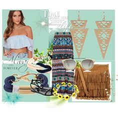 Hippie summer combination by maia-ratiu on Polyvore featuring Monsoon, Ted Baker, Polo Ralph Lauren, Apt. 9, BloggerStyle, hippie, fashionset and maiaratiu Monsoon, Ted Baker, Polo Ralph Lauren, Shoe Bag, Polyvore, Summer, Shopping, Collection, Design