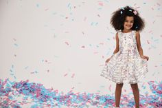 Bright and cheerful flower girl dress