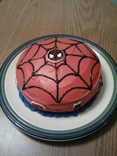Spiderman birthday cake that I made for my son!