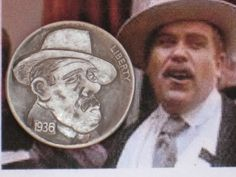 Joe Gallagher - 'The Godfather' Don Fanucci Hobo Nickel, Antique Coins, All Movies, The Godfather, Buffalo, Portraits, Profile, Antiques, Jewelry