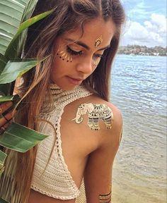 elephant tattoo .