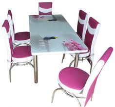 Mobila bucatarie - Modela.ro Kitchen Furniture, Outdoor Furniture, Outdoor Decor, Dining Table, Interior, Modern, Chevron, Design, Home Decor