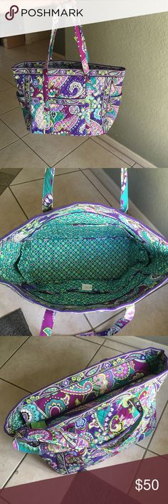 ‼️ VERA BRADLEY GET CARRIED AWAY TOTE‼️ Color: heather! Never used! Still has tag! Vera Bradley Bags Totes