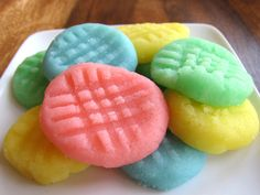 Easy melt in your mouth candy with endless flavor options.      1/4 cup unsalted butter      1 package (8 oz.) cream cheese      4-5 cups powdered sugar (see Passover note)      1 tsp flavoring - peppermint, vanilla butter, lemon, banana, etc.      Food coloring (optional)  Click for instructions.
