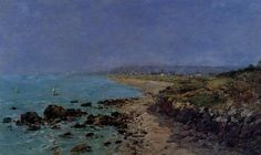 Douarnenez, the Shore and the Bay, 1897 Eugene Boudin