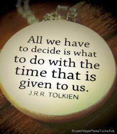 Beautiful Tolkien quote