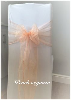 wedding chair cover hire pembrokeshire xmen guy in wheelchair 8 best covers images sashes white with peach organza sash available to for weddings and events swansea cardiff neath bridgend llanelli carmarthen