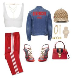 """""""Untitled #3222"""" by mollface ❤ liked on Polyvore featuring Gucci, adidas, Cushnie Et Ochs, Giuseppe Zanotti, Forever 21 and Roial"""