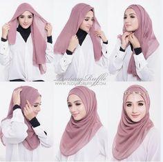 Dress brokat hijab simple 58 super ideas Source by – Hijab Fashion 2020 Square Hijab Tutorial, Simple Hijab Tutorial, Hijab Simple, Hijab Style Tutorial, Abaya Fashion, Muslim Fashion, Tutorial Hijab Pesta, Hijab Mode Inspiration, Beau Hijab