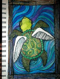 Turtle with wings...different animals??