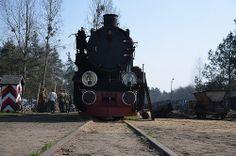 zdjęcia ze stacji kolejki wąskotorowej w Rudach