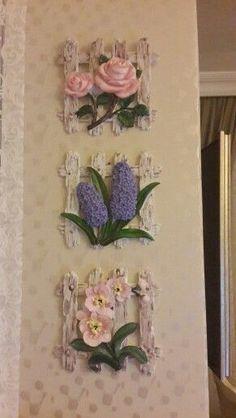 Polymar clar flowers my diesing sÜmbÜl eldek salvabrani Plaster Sculpture, Sculpture Painting, Spool Crafts, Clay Crafts, 3d Wall Art, Mural Art, Clay Flowers, Faux Flowers, Handmade Crafts