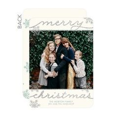 Simply Glittering Photo Holiday Cards