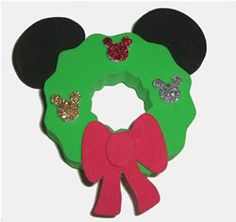 703c92efc9f9d MouseShoppe  Mickey Mouse Wreath Antenna Topper Disney