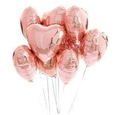 rose gold heart foil balloons wedding birthday party decor for . - rose gold heart foil balloons wedding birthday party decor for baby shower supplie - Letter Balloons, Heart Balloons, Helium Balloons, Foil Balloons, Buy Helium, Happy Balloons, Bride To Be Balloons, Rose Gold Balloons, Wedding Balloons