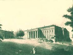 A contemporary etching by Eduard Gurk of the Palais Rasumofsky in Viennas third district, Landstraße. Wikimedia Commons, Manor Houses, Palaces, Villas, Castles, Third, Outdoor, Contemporary, Architecture