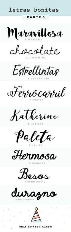 tipos de letras para invitaciones