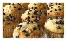 The Best Mom on the Block: Sour Cream Chocolate Chip Muffins- the lady that shared this loves Tim Horton's muffins so these must be good!