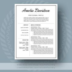 Resume Template  Free Cover Letter  Professional Resume Template