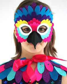 Bird of Paradise Wing Cape and Mask Set Children's