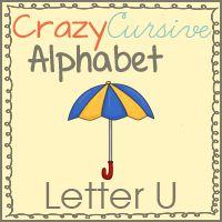 Free Uu is for Umbrella Pack - Crazy Cursive Alphabet