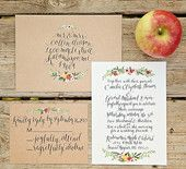 Fall Apple Themed Wedding via 100 Layer Cake/ Michaela Noelle Designs/ Ashley Slater Photography/ Invitation calligraphy and illustration by Jessica Albers  studioalbers.com