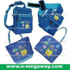 #SpongBob #Squarepants #Fans #Licensed #Characters #Sling #Backpack #Blue #Kids #Boys #Girls #Play #Toys #Wear #Stationery #Megaway #MegawayBags #CC-1286-5341A