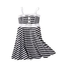 Harajuku Mini for Target® Girls Sleeveless Stripe Dress -  White