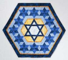 1000+ images about Jewish on Pinterest Star of david, Menorah and Mini quilt patterns