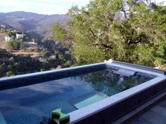 Endless Pools unique modular construction allows for installations anywhere, even hillsides: http://www.endlesspools.com/