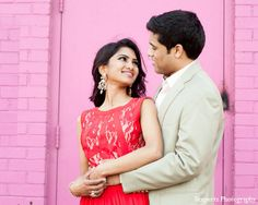 indian engagement portraits formal red dress http://maharaniweddings.com/gallery/photo/12853