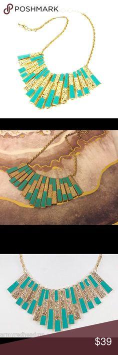 "Selling this Amrita Singh Turquoise ""Tina"" bib Necklace on Poshmark! My username is: harleen5741. #shopmycloset #poshmark #fashion #shopping #style #forsale #Amrita Singh #Jewelry"